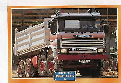 Scania P113 HK 8 X 4                  Glossy   Picture (T431)