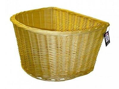 Adie Wicker Bike / Cycle Basket D Shape 18 inch