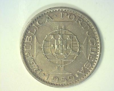Portuguese India 1959 Sixty Centavos Km32 Extremely Fine ~118