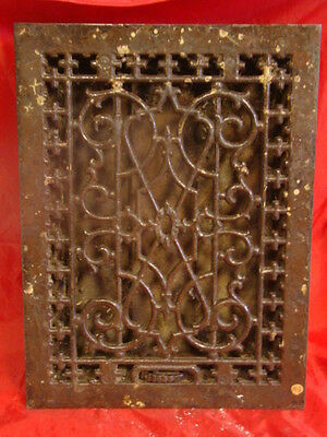 Antique Late 1800's Cast Iron Heating Grate Unique Ornate Design 15.75 X 12   C