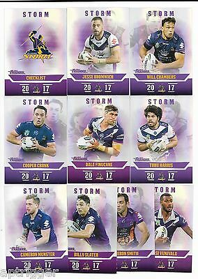 2017 NRL Traders Pearl Parallel Special STORM Team Set