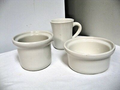 Lot 3 Older Coors China marked  Chefsware Bowls/Cup