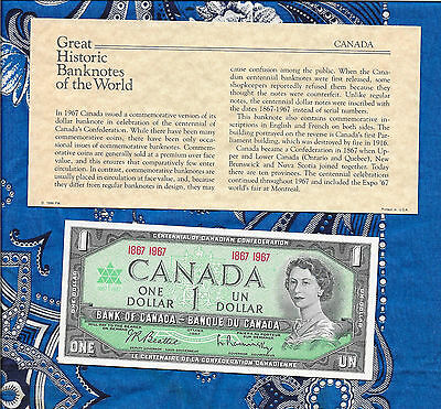 Great Historic Banknotes Canada 1967 P84a 1 dollar UNC No serial #