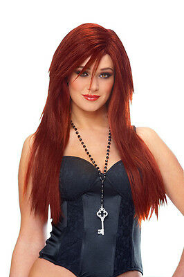 Deluxe Hayley Williams Paramore Singer Sleek Red Wig