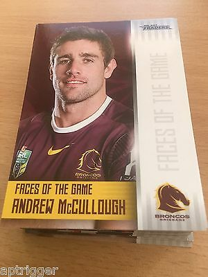 2017 NRL Traders Faces of the Game FULL SET (48 Cards)