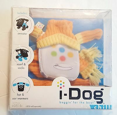I-Dog Chill, Scarf, Hat, Sweater, Ear Warmers, Socks, Orange, Ages 8+ New
