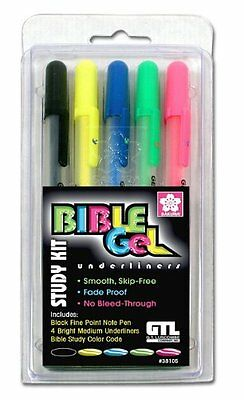 Bible Gel Underliners (set of 5 colors) NEW