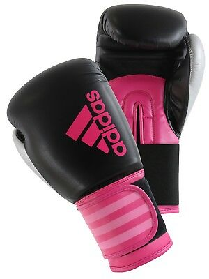Adidas Hybrid 100 Boxing Gloves Boxercise Training Sparring Women's 10oz 6oz