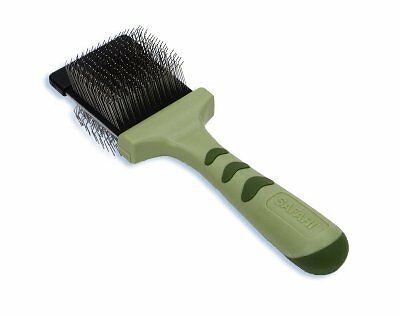 SAFARI Pet Dual Sided Flexible Cat Hair Slicker Brush Stainless Steel Soft Pins