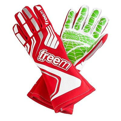 FreeM Karting Spidertouch 2 Gloves - Size 8, Shifter Kart, Quality Grip - RED