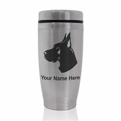 Commuter Mug -Dog Great Dane - Personalized Engraved Included
