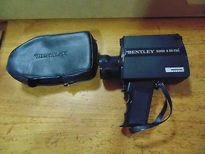 Vintage Bentley Super 8 BX-720 Movie Camera with film & cover appears very clean