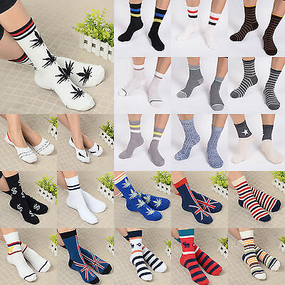 New Unisex Women Men Marijuana Long Cotton Sport Weed Leaf Socks Ankle Sock Crew