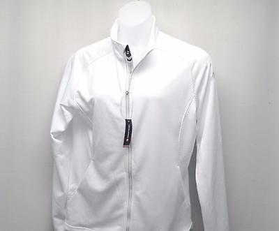 New Womens XL Levelwear Flux Mid Layer White golf full zip top Carrying Place