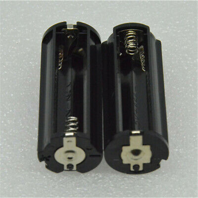2pcs Cylindrical 3 AAA Plastic Battery Holder Adapter Case For Flashlight Lamp