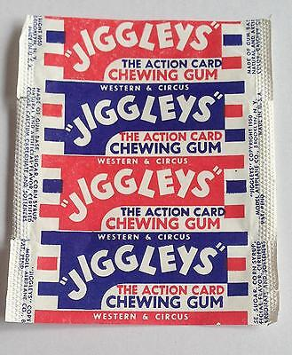 Western & Circus Jiggleys Chewing Gum Wrapper Vintage 1950