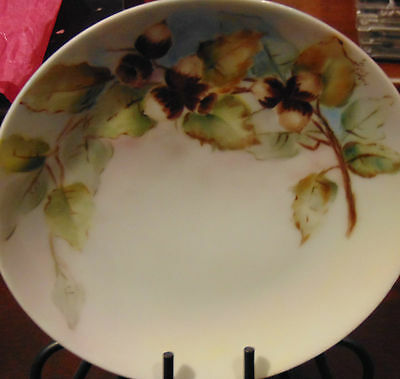 """Thomas Sevres Bavaria Hand Painted Flowers 6"""" plate Signed"""