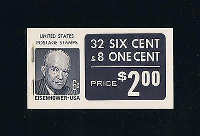US BK119 (Type VIId Covers) Prominent Americans Issue Booklet - Dull Gum Vert EE