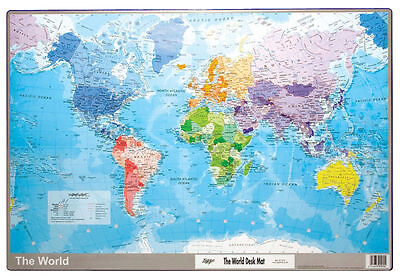 WORLD DESK MAT EUROPE ASIA AUSTRALIA 595 x 365mm VIQUEL 301572