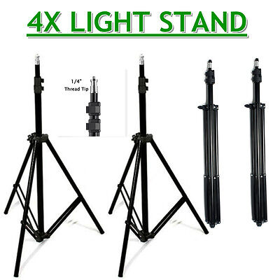 Photo Studio 4x 210cm Tall Light Stand Tripod for Video Lighting Flash Umb Stand