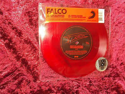 "Falco Rock Me Amadeus 7"" Single Red Vinyl New Neu Ltd 1000 Vienna Calling Rsd"