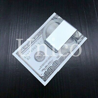 Stainless Steel Slim Money Clip Cash Credit Card Metal Pocket Holder Wallet