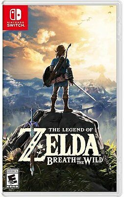 NEW The Legend of Zelda Breath of the Wild (Nintendo Switch, 2017)