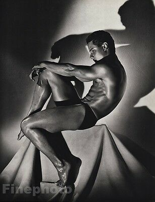 1985 Male Nude 16x20 GREG LOUGANIS Diving Physique Photo Gravure Gay HERB RITTS
