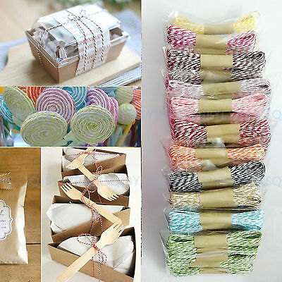 2 x 10m Colorful Bakers Cake Paper Twines Party Wedding DIY Ribbon Wrapping Rope