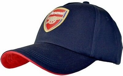 Arsenal Fc Mens Adult Navy Adjustable Baseball Cap Embroidered Crest Sports Hat