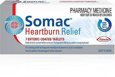 Somac Heartburn Relief 20Mg Tablets 7 NEW Cincotta Chemist