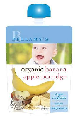 Bellamys Banana Apple Porridge 90G NEW Cincotta Chemist