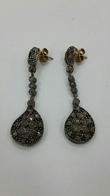 RR Beautiful stylish collectible 925 silver earrings with diamonds