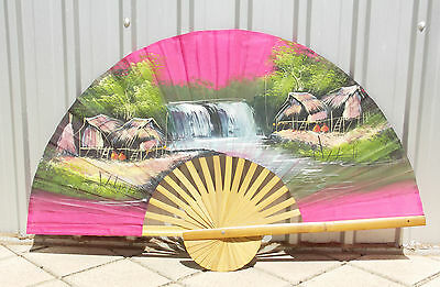 Vintage Hand Painted Wall Fan – Possibly Atma Alam