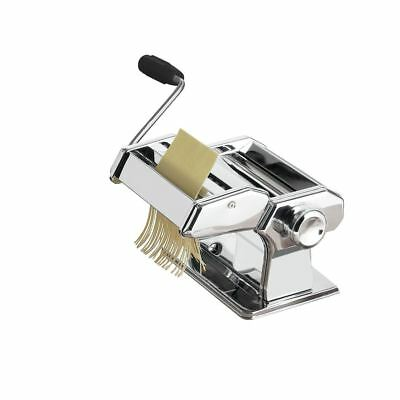 Hand Crank Pasta Maker, Stainless Steel Blade (7 Thickness Settings)