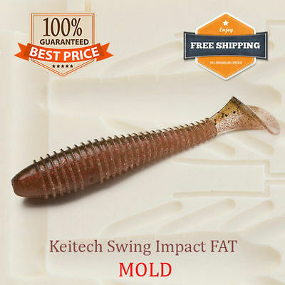 🔥 Keitech Swing Impact Fat Soft Plastic Bait Mold Mould Shad DIY Lure 38-125 mm