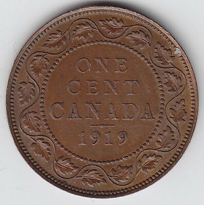 1919 Canada Large One Cent Coin
