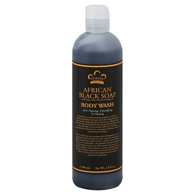 Body Wash African Black Soap 13 OZ by Nubian Heritage