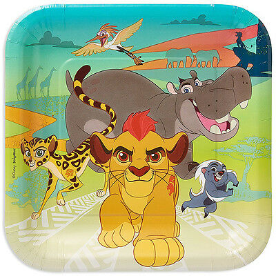 "8 Disney The Lion Guard King Birthday Party 9"" Square Paper Lunch Plates"