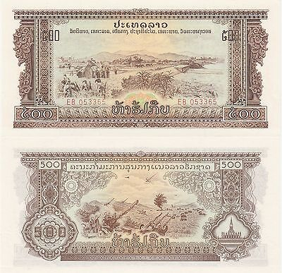 Laos 500 Kip Banknote,(1975) Uncirculated Condition Cat#24-A-3365