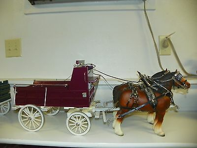 BREYER #83 Clydesdale Mare Drafter Full Leather Harness Red Show Wagon Set