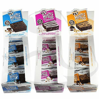 Lenny & Larry Box of 12 Muscle Brownie High Protein Bar All Flavours & Mixed Box