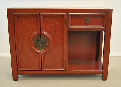 Asian Style Chinese Red Laquered Server Cabinet Console By Century Furniture