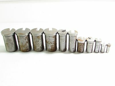 Lot of (11) Dumont Straight Broach Bushing