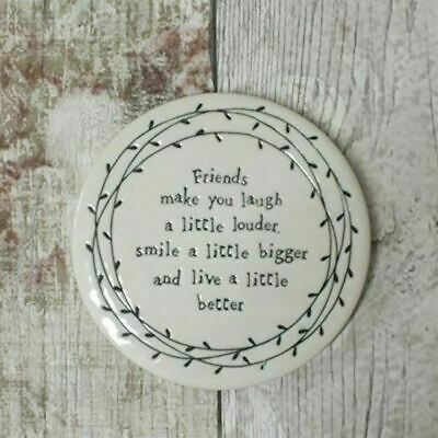 East of India Leaf Coaster Friends make you laugh a little louder smile .. Gift