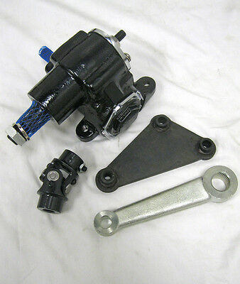 Vega Steering Gear Box + Pitman Arm + Bracket Kit Street Rod Vintage + u joint