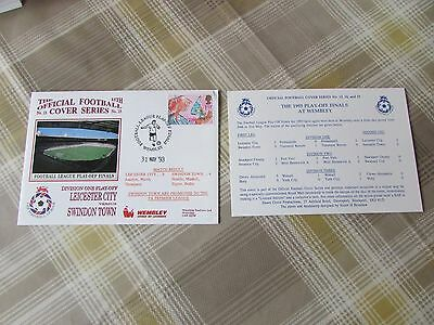 LEICESTER v SWINDON 1993 Division One Play Off Final FOOTBALL First Day Cover