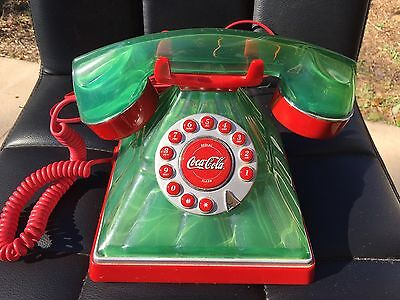 Retro Coca Cola 2005 Green Bottle Style Phone by Polyconcepts