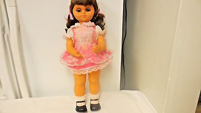 "Older Wind-Up Musical Twist n Turn 18"" Doll-Plays Lullaby-Eyes open/close as Tur"