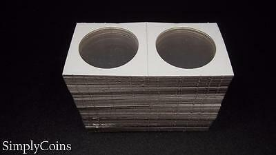 100 Cardboard 2x2 Coin Holder Mylar Flips for Large Silver Dollars